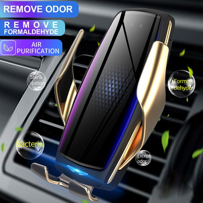 【New】 E5 Wireless Car Fast Charger With Air Purification Aroma Function ( Influencer Recommend)