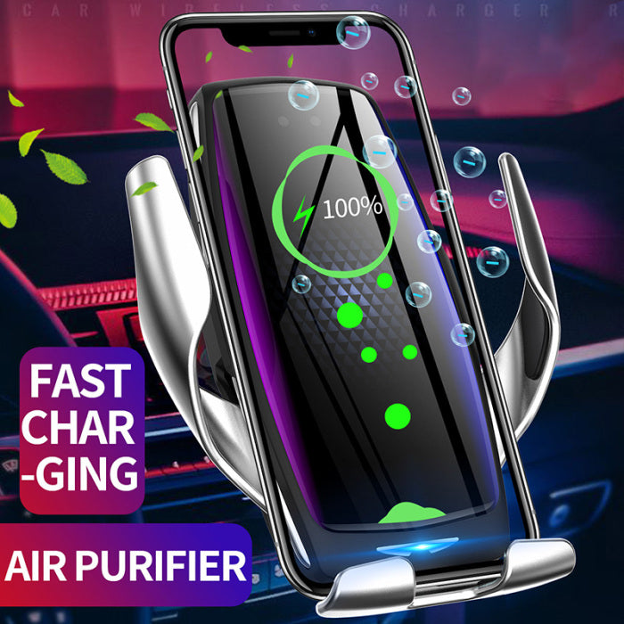 【New】 E5 Wireless Car Fast Charger  With Air Purification Aroma Function