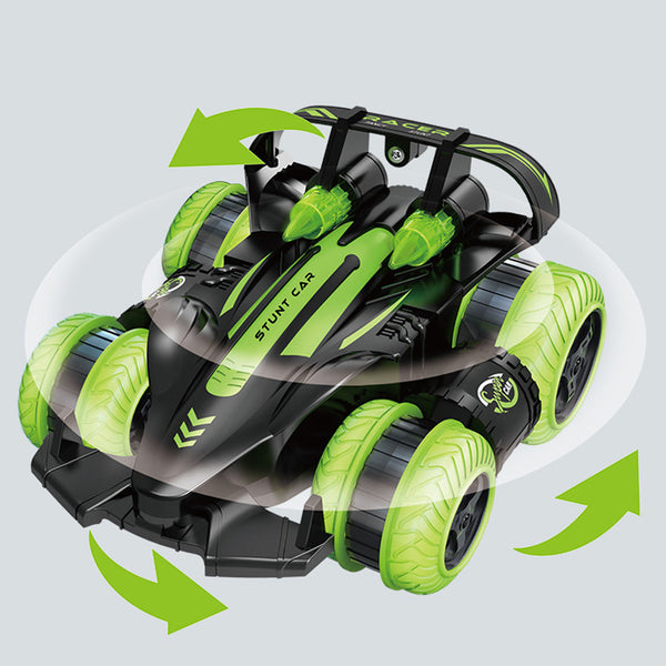 Remote Control Stunt Car 2.4GHz Side Drive Drift Car With Light 360 Degree Rotating Standing Driving Deformation Car Toy Vehicle