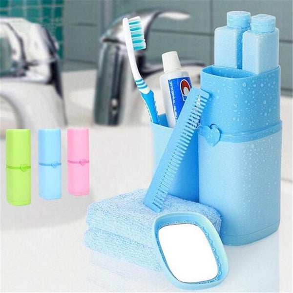 Portable travel set toothbrush cup storage box toothpaste toothbrush towel wash cup