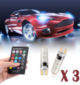【Buy One Get Two】2 PCS Car LED lights 12V Signal Lamp Car Interior Decorative Lights for Auto Remote Controller
