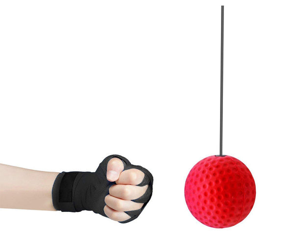 (Buy 1 Get 1) Boxing Reflex Ball with Headband - for Reaction, Agility, Punching Speed, Fight Skill and Hand Eye Coordination Training