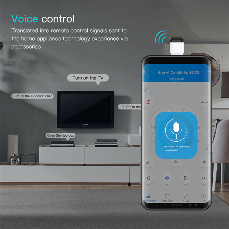 Micro Remote Control Smart App Wireless Infrared Technology Adapter for TV Air Conditioning