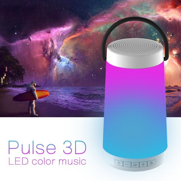 Outdoor Bluetooth Wireless Speaker Pulse 3D Stereo Colorful LED Light