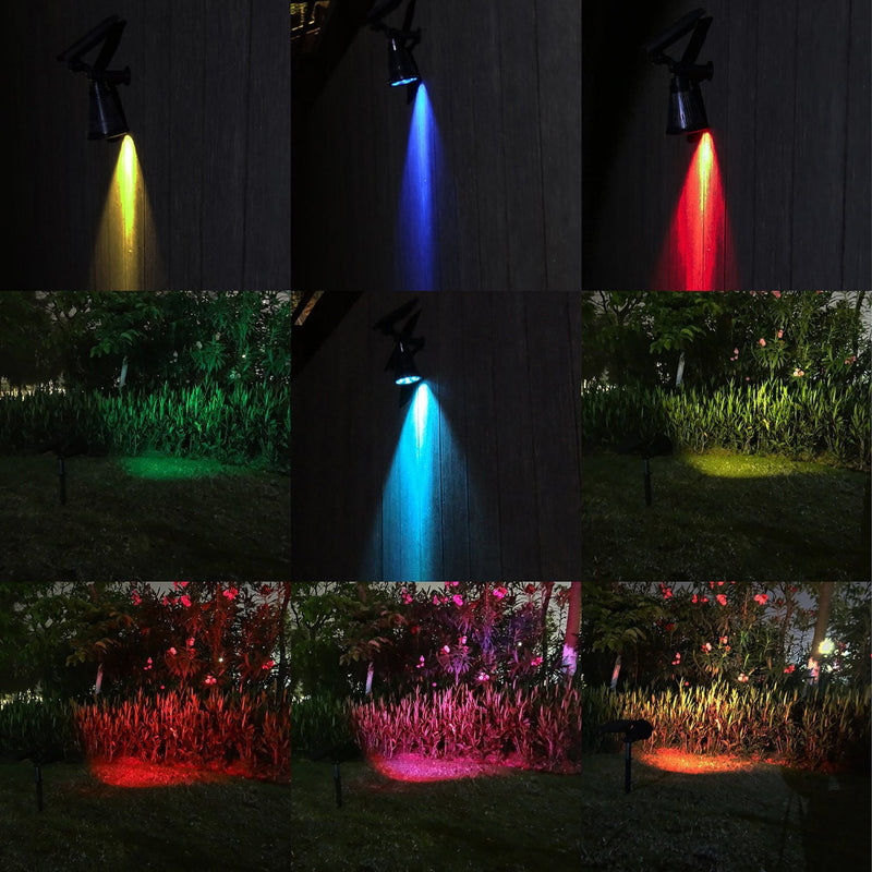 LED Color-Changing Solar Spotlight