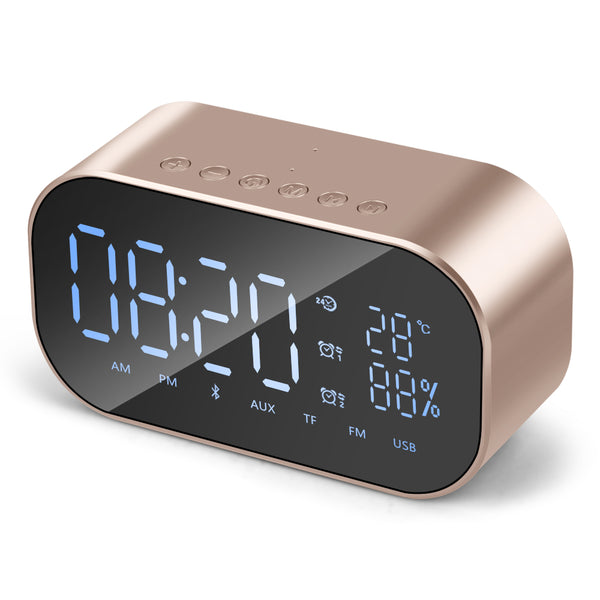 2019 New Wireless Bluetooth Mini Mobile Alarm Clock Small Audio Computer Speaker Car Subwoofer Stereo Sound