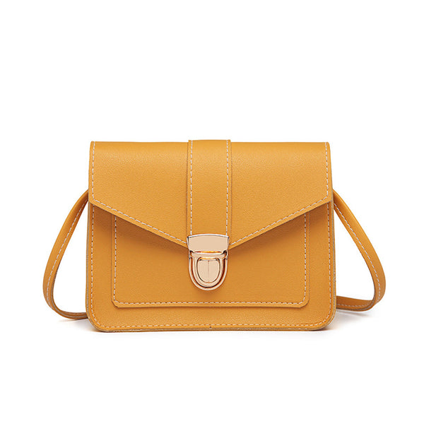 (Buy 1 Get 1 FREE) Fashion Small Crossbody Bags for Women 2019 Mini PU Leather Shoulder Messenger Bag for Girl Yellow Bolsas Ladies Phone Purse