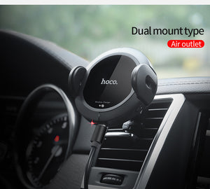 Fast Qi Wireless Car Charger Automatic Sensor Car Mount Air Vent Phone Holder Stand Cradle