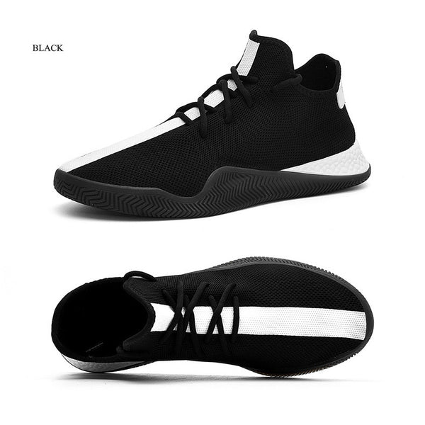 New Set Of Foot Casual Shoes Men Breathable Korean Version Of Fashion Black And White Shoes Men's Shoes
