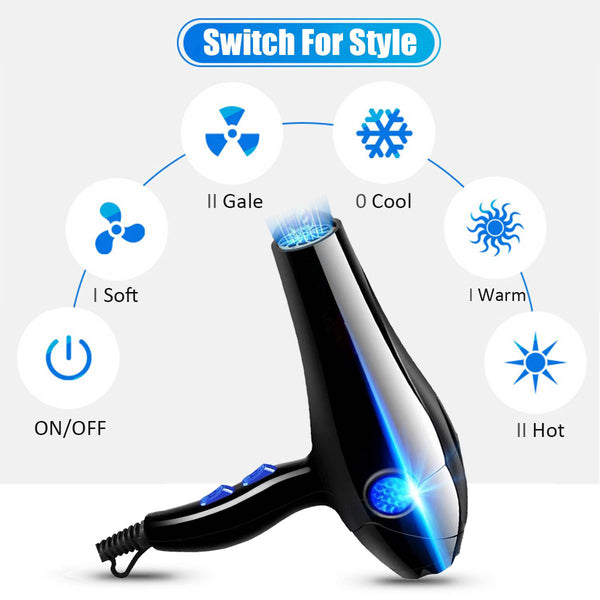 3000W Professional Hair Dryer High Power Styling Tools Blow Dryer Hot and Cold EU Plug Hairdryer 220-240V Machine