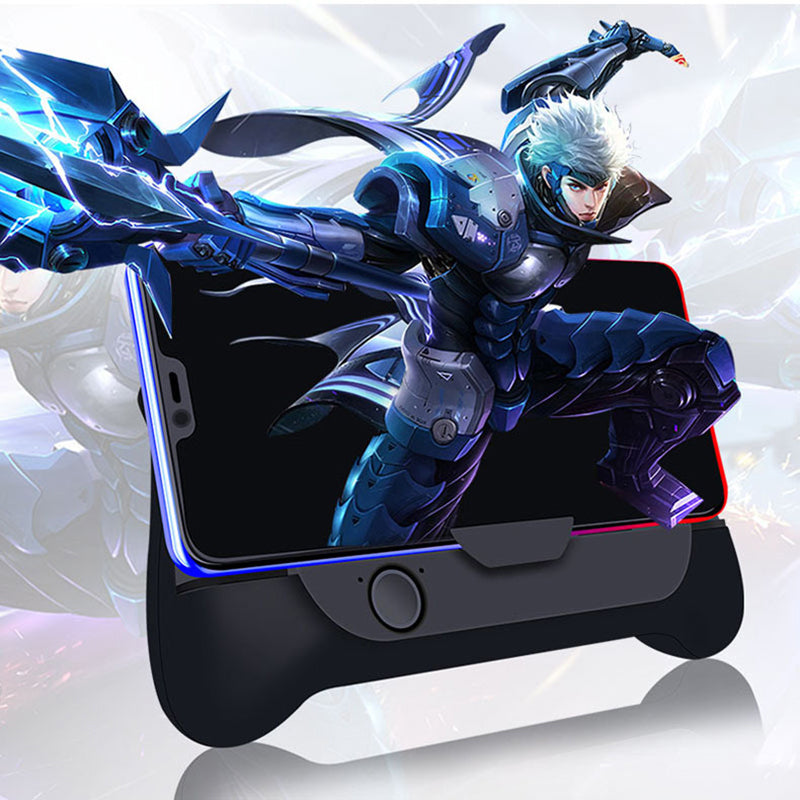 Mobile Phone Cooler Cooling Fan Gamepad Holder Stand 1800 mAh Power Bank Radiator Mute Fan for 4-7 inch Smartphone