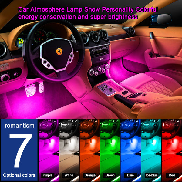 【HOT SALE】4x 9LED 12V Car styling Interior Dash Floor Foot Decoration Light Lamp Cigarette LED Atmosphere Lights Decoration Lamp