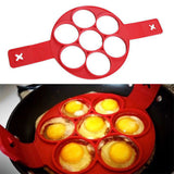 Egg Cooking Tool 7 Holes Maker Egg Silicone Mold Pancake Cheese Egg Cooker Pan Flip Kitchen Baking Accessories