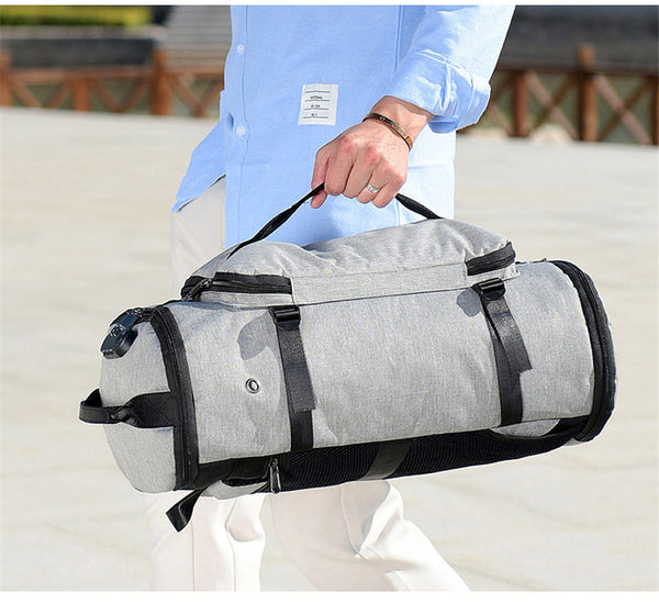 USB Anti-theft Gym backpack Bags Fitness Gymtas Bag for Men Training Sports Tas Travel Sac De Sport Outdoor Laptop Sack XA684WA