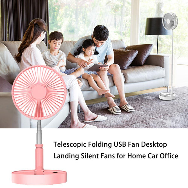 Telescopic Folding Table Fan Multi-function USB Charging Desk Fan Home Floor Fan Personal Air Cooler For Home / Kitchen / Travel Kitchen