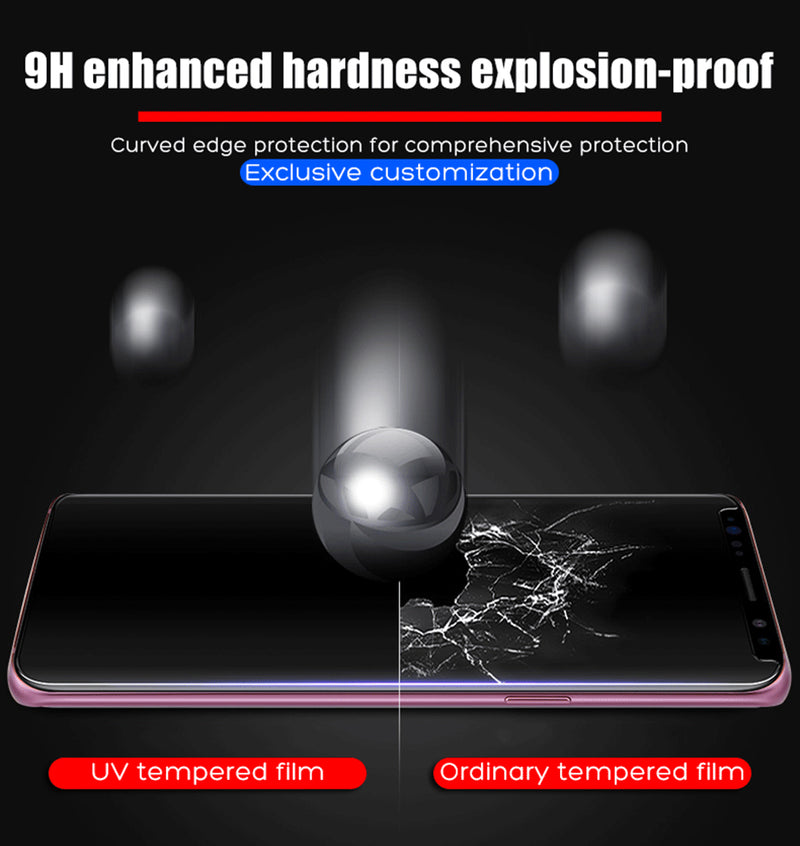 Screen Protector For Samsung S8 Plus S9 Plus Tempered Glass Liquid Full Glue UV Light