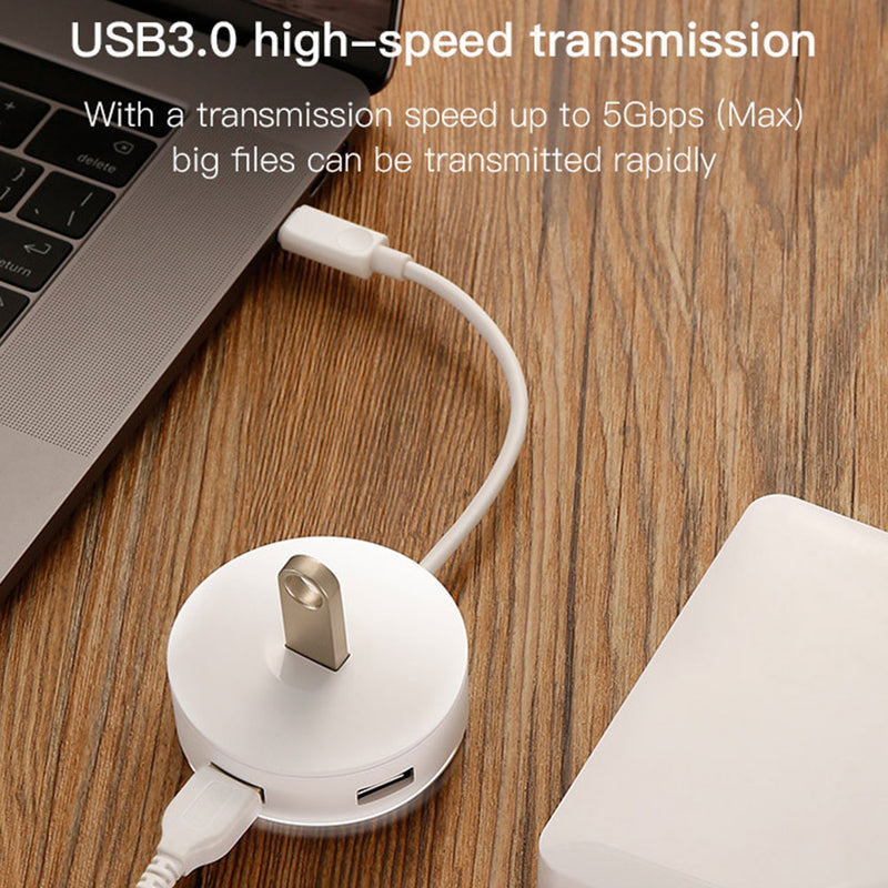 4 Port in 1 Converter 3.0 USB Hub Smart Adapter Converter for Laptop Networking Computer HUB Smart High-Speed Adapter
