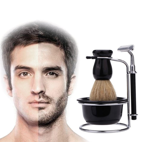 Original Shaving Brush Set Old-fashioned Manual Beard Razor Suit Men Shavers Shaving Razor Hair Trimmer For Home Salon SELLING