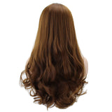 Long Wavy Culry U-Shaped Half Wig for Women Heat Resistant Synthetic Fake Hair