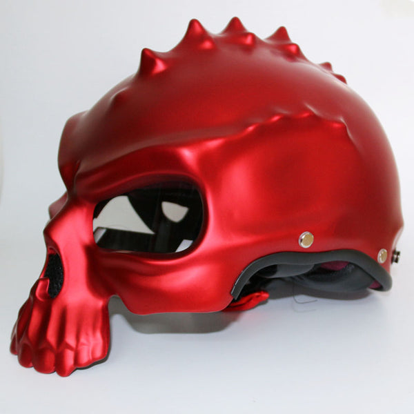 Dual Use Skull Motorcycle Helmet  Retro Casque Motorbike Half Face Helmet