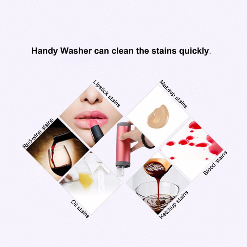 Portable Mini Washing Machine Stain Removal Handheld Laundry Stick For  Emergency