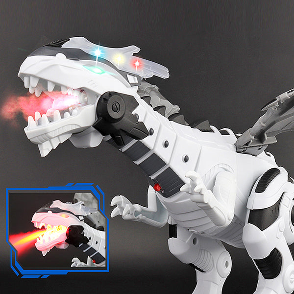 [2PCS Save 80SAR] Large Spray Mechanical Dinosaurs With Wing Cartoon Electronic Intelligent Dinosaur Robot