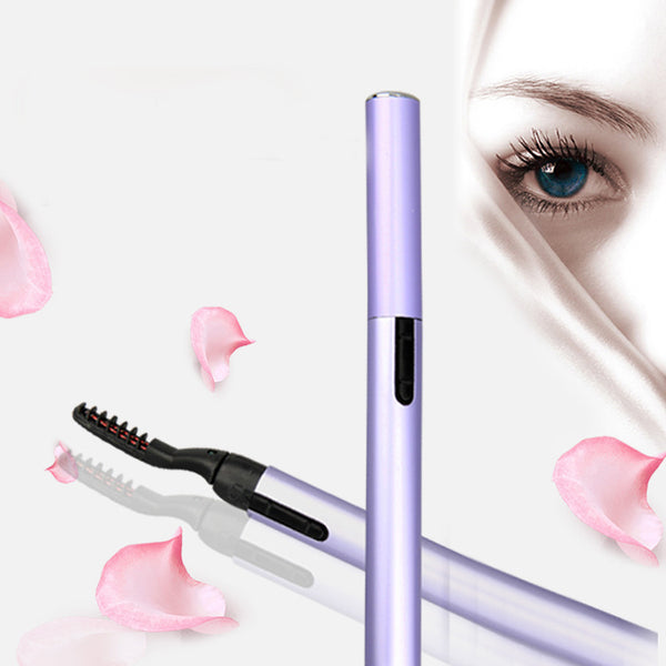 Portable Pen Style Electric Perm Heated Eyelash Curler Long Lasting Eye lash Curler Makeup Curling Kit For Women