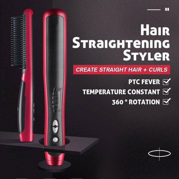 New Year Save 45% OFF - 2 IN 1 Hair Straightening Curls Styler