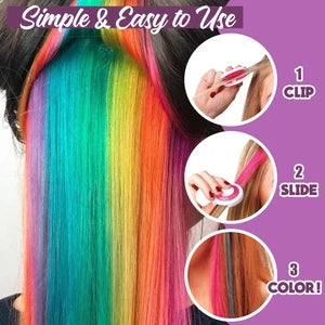 (BUY 1 GET 5 FREE)Washable Temp Hair Dye Kit (Box with 6 colors)