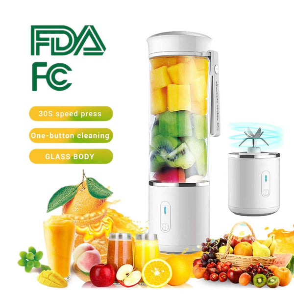 AUGIENB 500ml Portable Electric Juicer Blender USB Mini Fruit Mixers LED Machine Food Maker Cup