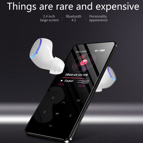 Bluetooth 4.2 touch screen MP3 player Built-in 16G HIFI Lossess Portable Slim MP3 player with Fm/Radio and loud Speaker
