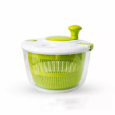 Salad Spinner Free-Manual Vegetable Washer with Quick Dry Design,Easily drain water