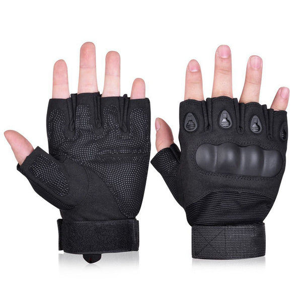 Outdoor Tactical Fingerless Gloves Military Army Shooting Hiking Climbing Half Finger Gloves
