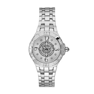 QUANTUM Watch Unisex Diamond Accented Dial Analog Wristwatch Stainless Steel 100M Water Resistant Timepiece