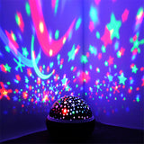 Night Light Projector Spin Starry Sky Star Master Rotating Children Kids Baby Sleep Romantic Led USB Lamp Projection