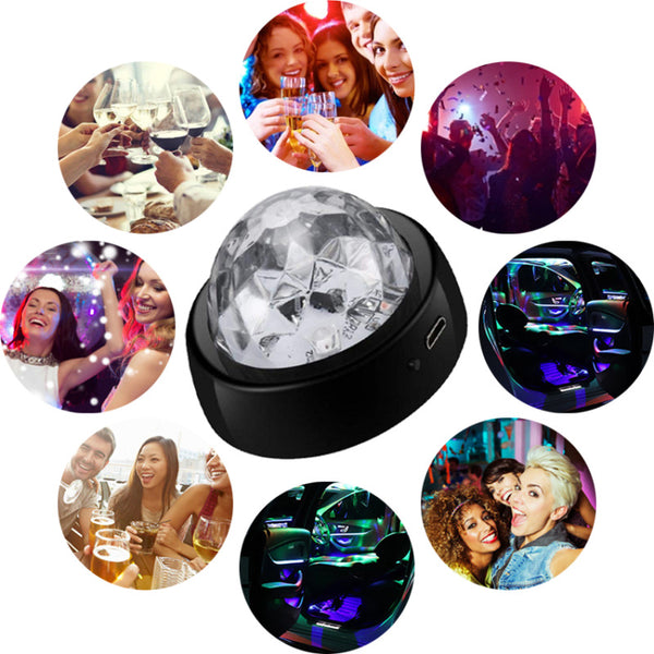 LED RGB Crystal Ball Lamp Laser Projector Lamp Disco DJ Stage LED Lighting