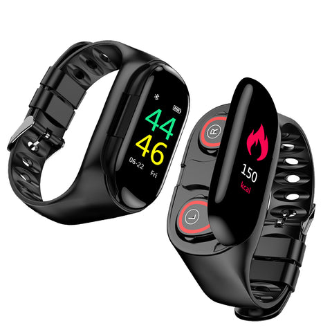 【30 % OFF】M1  Smart Watch For Women Men With Bluetooth Headphone Hate Rate Blood Pressure Monitor Sport SmartWatch Android IOS