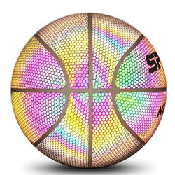 Luminous Basketball Fit Street Dance Indoor Outdoor Game Competition Team Sport Noctilucence Basketball Toy Rainbow Color