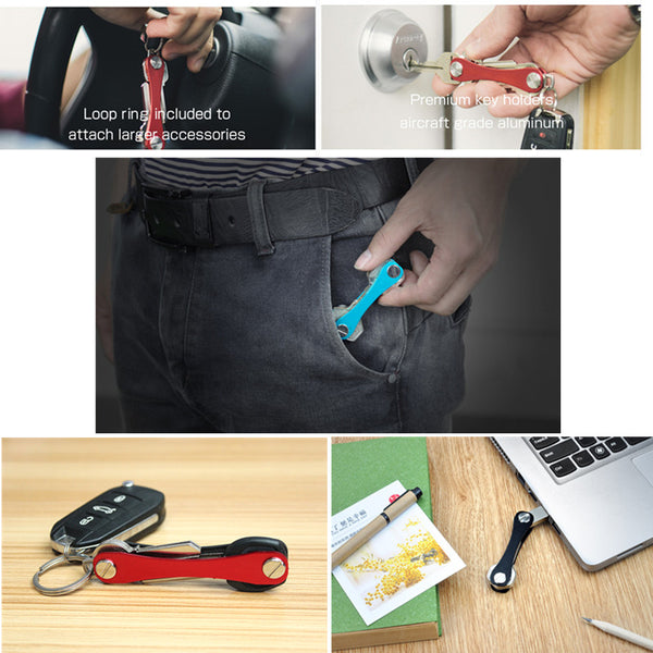 Long Stlye EDC GEAR Key Holder Clip Keys Organizer Folder Smart Keychain Outdoor Key Storage Collector