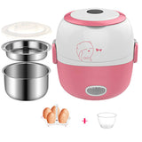MINI Rice Cooker insulation heating electric lunch box 2 layers Portable Steamer multifunction automatic Food Container