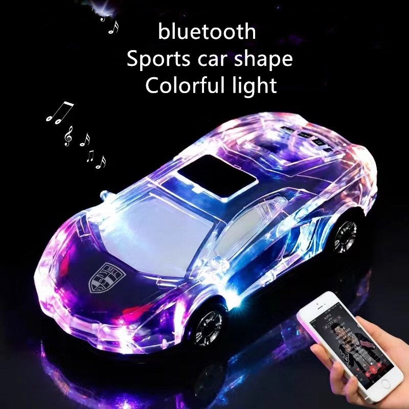 Bluetooth  Speakers Car Model Support USB TF Card MP3 MP4 Music Player Bass cool LED