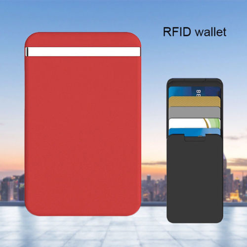 Men Women PC ID Credit Card Holder RFID Protector Anti-side Wallet Card Case