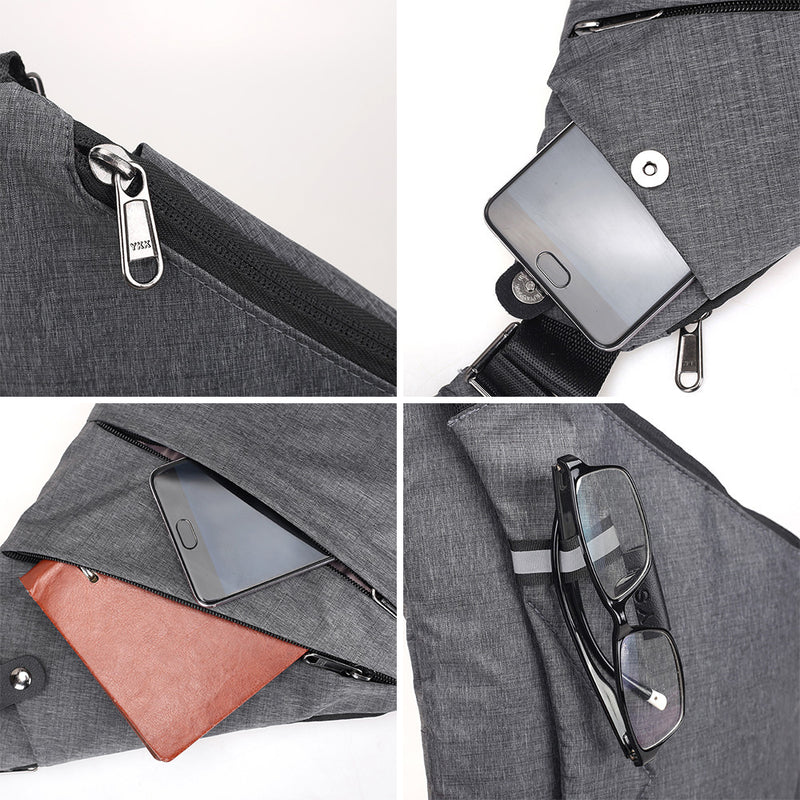Waterproof Shoulder Bags Men Business Style Chest Bag Male Nylon Messenger Bags Man Fashion Crossbody Bag