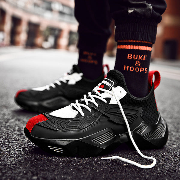 Fashion men hip hop streetwear kanye west shoes white high top sneakers autumn winter casual leather shoes