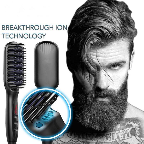 Multifunctional Hair Comb Brush Beard Straightener Quick Hair Styler For Men Women