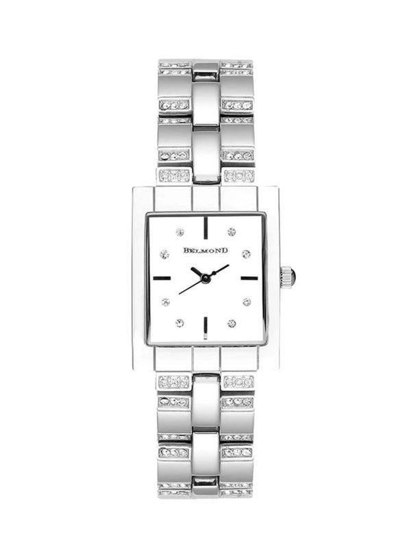 Belmond - Women's Wrist Watch Rectangle Silver Stainless Steel BA00010