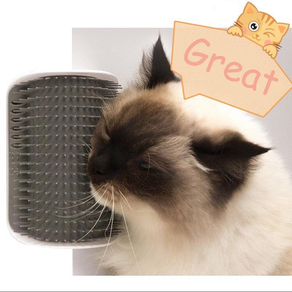New Cat Self Groomer with Catnip Cats Brush Corner Cat Massage Comb Brush Cat Rubs The Face With A Tickling Comb
