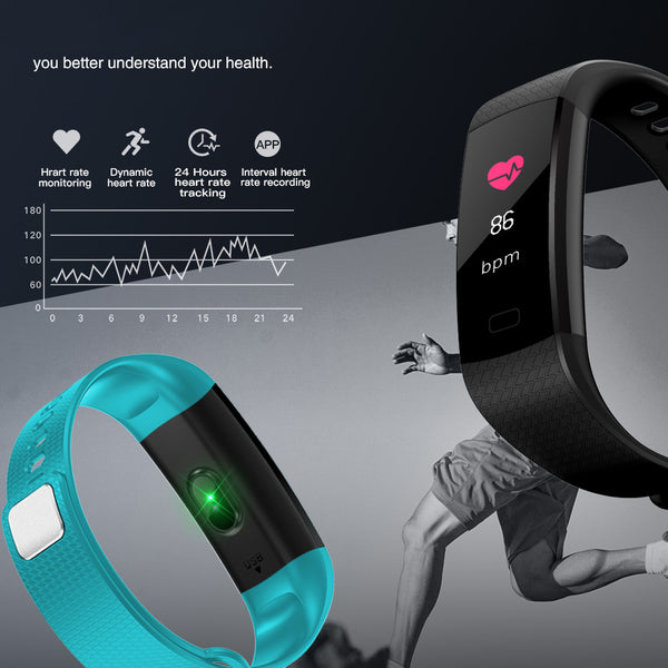 New Color Screen Waterproof Smart Watch With Heart Rate Monitor Blood/oxygen Pressure Pedometer Fitness Tracker Smartwatch