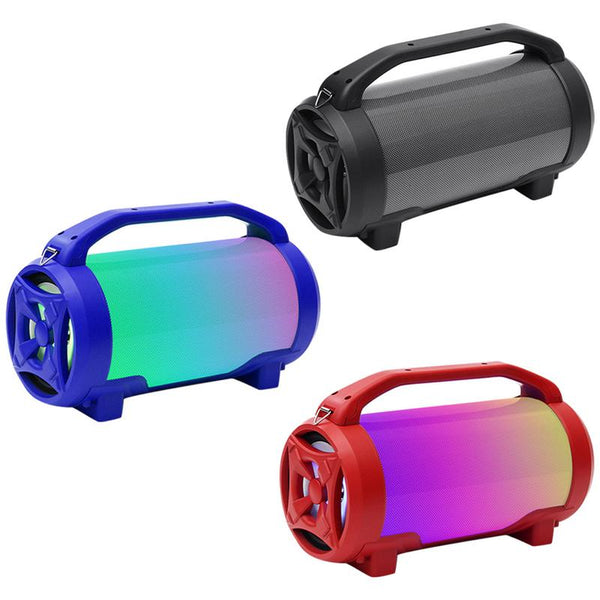 New Led Colorful Subwoofer Portable 5 Inch Bluetooth Audio Card Usb Speaker Portable Super Loud Led Wireless Outdoor Subwoofer