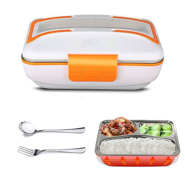 New Portable Heated Lunch Box Electric Container for Food Stainless Steel